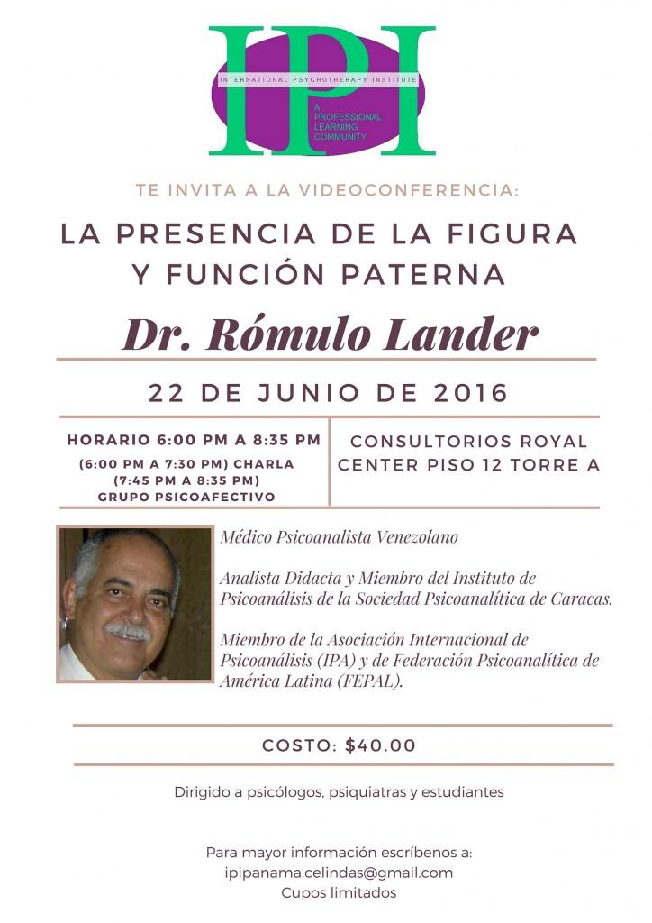 Videconferencia Dr. Rómulo Lander